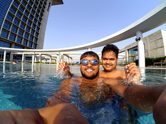 Under Water Selfie Experience (mohammad jobaed) Tags: blue water underwater happiness adventure moment chittagong swmmingpool radissonblu mdjobaedkhan jobaedkhanphotography