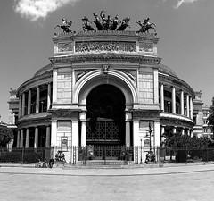 Teatro Politeama Garbaldi (focusyx) Tags: italy square theater front sicily palermo garibaldi frontage politeama