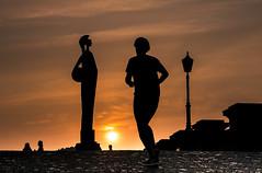 Sunset (Explored) (Ludo_Jacobs) Tags: sunset sports silhouette zonsondergang sonnenuntergang belgium outdoor dusk running explore antwerp schelde antwerpen silhouet belgien explored