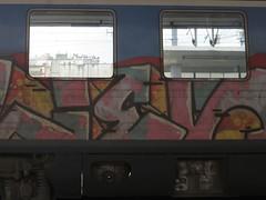 20160515_001 (a1pha_gr) Tags: reflection window train graffiti greece transportation thessaloniki