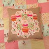 Princess & the pea and the frog cushions. (MissCavalla) Tags: pompoms cushion hexagon heatherross