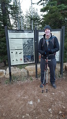 Fred ready for his Rim-to-Rim hike at Grand Canyon