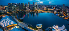 View from Marina Bay Sands (Mihai Macarie) Tags: trip travel panorama canon singapore asia marinabay 70d marinabaysands