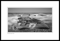 When All Around You is Turmoil... (Mike Palmer Fauxtography. Mainly away.) Tags: lee filters big stopper nd grad graduated seascape landscape sea tide long exposure le water county durham chemical beach seaham north east england canon eos 7d efs1022mm f3545 usm dawdon monochrome mono bw waves rock fauxtography michaelpalmer