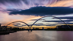 Stockton-on-Tees   |   Infinity Bridge Long Exposure (JB_1984) Tags: uk longexposure bridge england cloud motion blur colour river movement university footbridge unitedkingdom teesside tees stocktonontees ndfilter teesvalley northeastengland rivertees thornaby neutraldensityfilter thornabyontees infinitybridge universityofdurhamqueenscampus teesdalebusinesspark