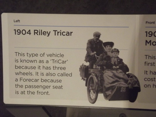 Coventry Transport Museum - A New Motor Industry 1900-1914 - sign - 1904 Riley Tricar