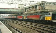 Virgin Trains Class 47/7s 47747 & 47750 - Stafford (dwb transport photos) Tags: virgin crosscountry atlas locomotive stafford respublica 47750 47747