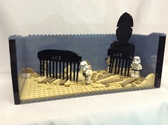 Comb the Desert! (notenoughbricks) Tags: starwars lego stormtrooper spaceballs nycc combthedesert weaintfound
