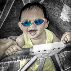 McKayla (Chris C. Crowley- grieving and recovering) Tags: baby cute sunglasses toddler child playpen mckayla editbychriscrowley
