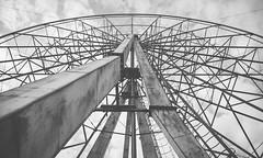 Abandoned Ferris Wheel (davit.andreasyan) Tags: sky urban blackandwhite white black wheel metal photography photo rust ferris structure exploration 500px
