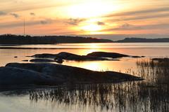 New Year's Day sunset on seashore in Hevossalmi (Helsinki, 20120101) (RainoL) Tags: sunset sea sky finland geotagged islands helsinki january balticsea u helsingfors fin cpl 2012 uusimaa nyland laajasalo hevossalmi 201201 20120101 geo:lat=6016026700 geo:lon=2504703000