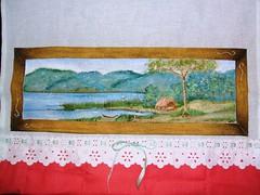 Tela (LID ARTS) Tags: de em prato panos pintura tecido
