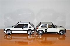 Peugeot 205 Gti vs Renault 5 Turbo (MODEL CAR PASSION) Tags: 2 white cars car model 5 five 4 super hobby renault jordan 124 turbo winner cinco pearl universal vs hobbies bianca gt gti 19 bianco blanc peugeot maxi cinque rallye 205 118 diecast norev jouef ottomobile supercinque jordanscars