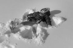 Angel Madison (tookephoto) Tags: snow angel march texas madison bryce coppell snowday 2015