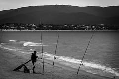 fisherman (Antonio Crisponi) Tags: cloud man nuvole expo bn e una fisher non inverno bianco nero spiaggia cagliari dalle città poetto 2015 ufficiale schiacciata horizzontal