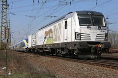 PCW 247 901-2 mit Velaro Eurostar 4006, Koblenz-Ltzel (michaelgoll777) Tags: eurostar siemens pcw vectron velaro br247