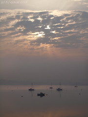 Still morning (ExeDave) Tags: uk morning england sky mist misty clouds river boats still estuary devon gb april sw yachts spa hightide exe moored starcross 2015 sssi teignbridge ramsarsite p4105650