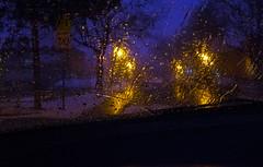 behind the steering wheel... derrière le volant (Bob (sideshow015)) Tags: rain nikon nightshot 7100 pluie windshield parebrise