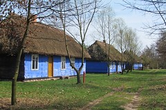 blue houses :) (green_lover (your COMMENTS are welcome!)) Tags: maurzyce poland skansen ethnographicpark folklore houses architecture trees blue vanishingpoint openairmuseum thechallengefactory