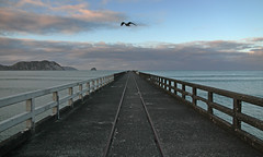 center (Paul J's) Tags: ocean sunset beach pier pacific wharf eastcoast tolagabay