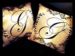 Almofada Monograma - Monogram Pillow (bruna.cosini) Tags: home brasil bag skull tissue pillow owl coruja patch decor caveira almofada tecido pou