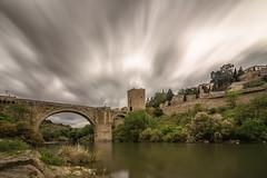 AMP_5838_1 (Amparo Hervella) Tags: longexposure bridge espaa cloud reflection water ro river landscape puente spain agua nikon paisaje toledo reflejo nube largaexposicin filtrond d7000 nikond7000
