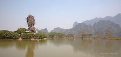 Kyauk Ka Lat Pagoda (Rolandito.) Tags: lake rock asian kat asia burma south an east limestone myanmar southeast karst birma ka lat hpa birmanie birmania kyauk
