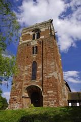 Tower of Strength (Sundornvic) Tags: trees tower church stone ancient shropshire belief atcham historis steata