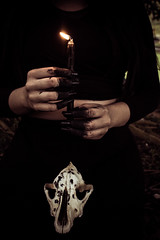 #266 of 365 days - Do you believe in witches? (Ruadh Sionnach) Tags: witch witchcraft witches dark gothic obscure skull goat nails hands hand obscuro gtico gtica bruxa bruxaria bruxas candle vela fire flame chama fogo morrigan morrighan