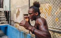 Portrait of Michael (Havana, Cuba) (johnaustinwilson) Tags: city portrait people urban texture sport architecture austin de fight hands decay bare knuckle havana cuba ruin boxer wilson rafael boxing gym gimnasio boxeo trejo