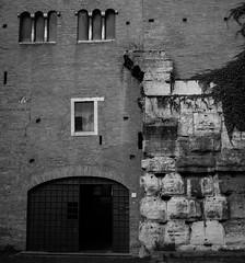 Our Roman foundations, SS. San Giovanni e Paolo (Robert Barone) Tags: blackandwhite italy rome roma blancoynegro architecture italia noiretblanc commute archeology biancoenero ancientrome micro43 panasonicgm1