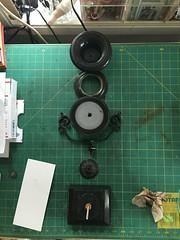 Rebuilding an antique Urn (blackthorne56) Tags: black urn stone antique plateau marble brass epergne