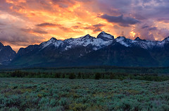 Fire in the Sky (Happy Photographer) Tags: nature snow spring gtnp grand teton national park amyhudechek