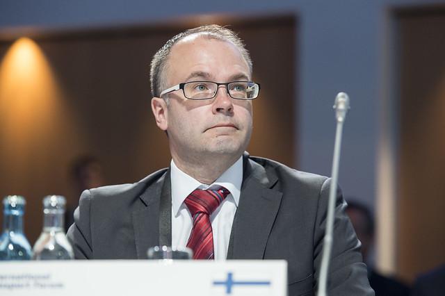 Olli-Pekka Rantala at the Closed Ministerial Session