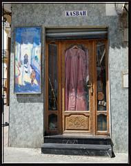 you should buy this precious kaftan!! (mhobl) Tags: door shop maroc medina kaftan tangier tanger tanja