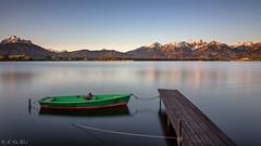 Hopfensee (MC-80) Tags: longexposure morning lake alps sunrise germany deutschland see sonnenaufgang allgu langzeitbelichtung morgenstimmung hopfensee allgueralpen allgualps hopfenamsee hopferau