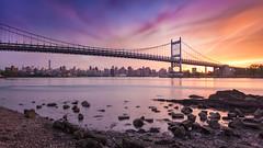Set In Astoria (Tim Drivas) Tags: newyorkcity longexposure bridge sunset skyline colorful waterfront queens astoria 169 triboroughbridge rfkbridge