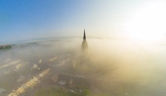 Morning fog (Paul Millar44) Tags: morning ireland sunset mist church st fog sunrise cathedral spire eugenes derry