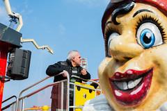 Prater, Vienna (Owain Thomas) Tags: vienna street man austria clown streetphotography documentary creepy amusementpark disturbing prater