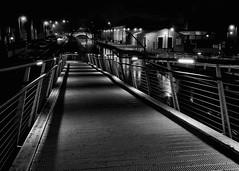 Walk this way........... (Michael_B_Photography) Tags: nightphotography bridge blackandwhite bw water night canal le