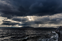 Waves of Light (jetcitygrom) Tags: seattle park light storm weather clouds canon landscape waves alki editing constellation lightroom 6d