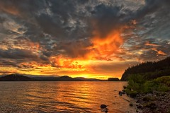 Hello Summer ! (Philip Kuntz) Tags: sunset summer canada clouds reflections evening dusk britishcolumbia summersolstice fraserlake northernsolstice