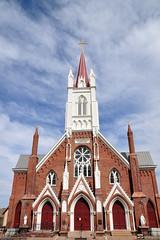 Exterior of St. Mary's in the Mountains Catholic Church (J-Fish) Tags: church nevada virginiacity romancatholic d300s 1685mmf3556gvr 1685mmvr stmarysinthemountain