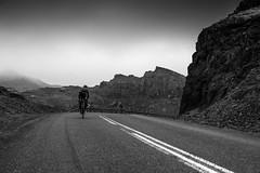 DSC07557 (Gumundur Rbert) Tags: sky white mountain black 35mm cycling climb iceland cloudy f14 sony climbing rolf prima reykjavk sland ares a7ii pansonic samyang reihjl rokinon