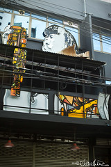 (by claudine) Tags: street city windows light mars white black art yellow architecture thailand travels colorful asia chinatown artist singing bangkok culture tourist pop exotic sing passion torn lantern bruno recording attraction expat passionate tearing travelphotography