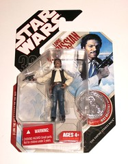 lando calrissian in smuggler outfit star wars tac thirtieth anniversary collection the empire strikes back 39 saga legends 2007 hasbro mosc a (tjparkside) Tags: lando calrissian smuggler outfit 3039 30 39 star wars tac thirtieth anniversary collection empire strikes back saga legends 2007 hasbro mosc 30th sw ep episode v five 5 tesb esb basic action figure figures blastech dl 44 dl44 heavy blaster pistol gun weapon collector coin millennium falcon han solo cloud city bespin