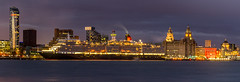 Queen Elizabeth (grahamkinnear) Tags: birthday uk west liverpool pier nikon elizabeth head north 100th cunard quen d3100