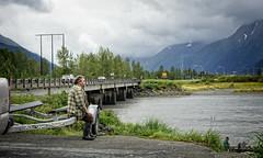An Alaskan (Tiigra) Tags: road bridge portrait people usa mountain nature fog alaska coast us unitedstates machine anchorage 2011