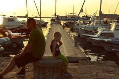 (..*SiMo*..) Tags: family sea summer people children tramonto mare estate barche porto gelato luce vacanza caldo malinska