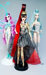 Long Hair + Peace Skin (ozthegreatandpowerful) Tags: barbie collector gold label bob mackie twilight athena greek goddess princess stargazer space girl celeste rosaline custom ooak repaint reroot doll dolls